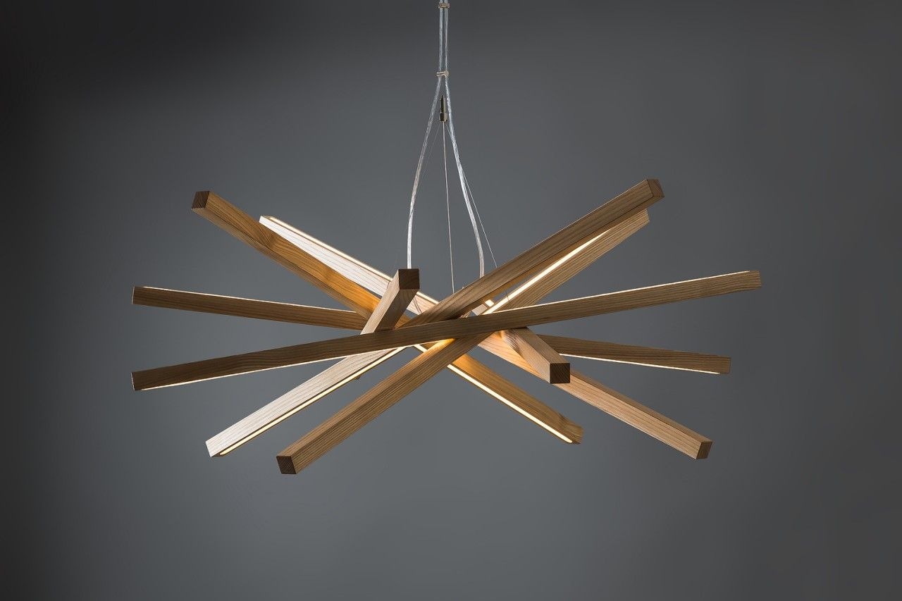 Handcrafted Wooden Chandelier