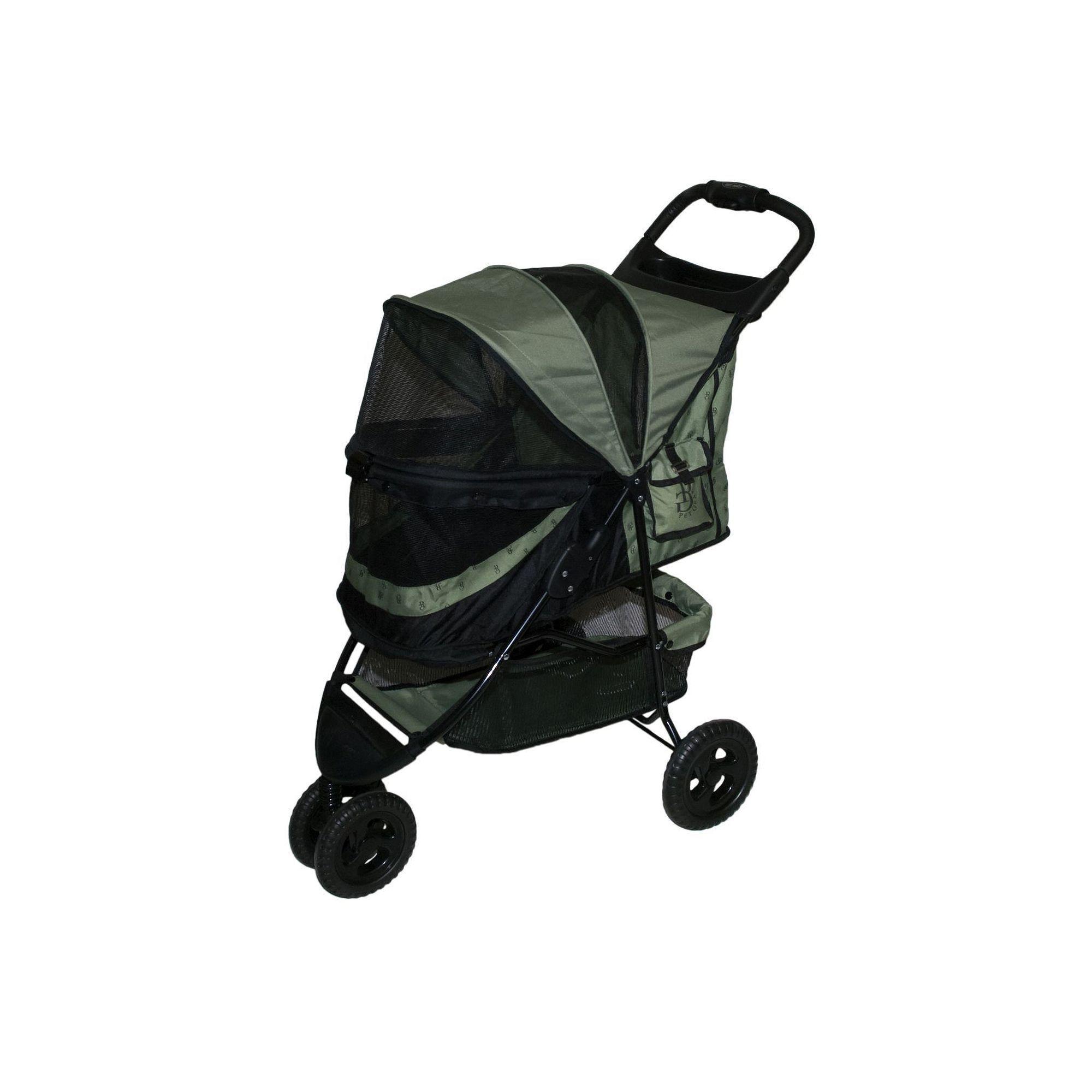 Pet Gear Special Edition No Zip Pet Stroller Green