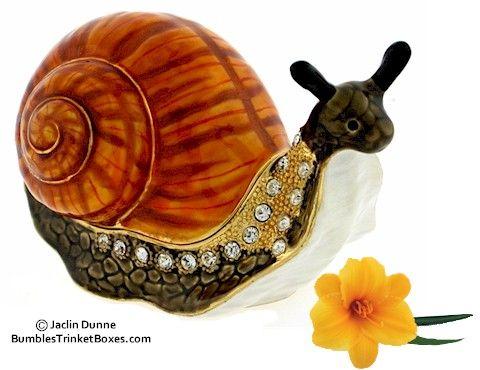 Trinket Box: Orange Snail