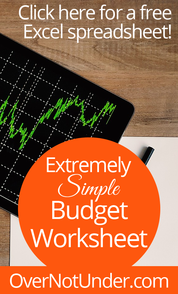 extremely simple budget worksheet free excel spreadsheet budget