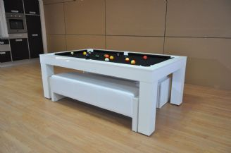 Outstanding Duo Milano Pool Table Diner Piano White Gloss Pool Table Gmtry Best Dining Table And Chair Ideas Images Gmtryco