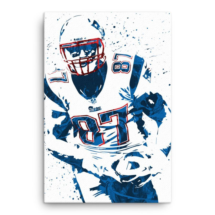 Rob Gronkowski New England Patriots Poster Sports Art Print Patriotic Posters Gronkowski
