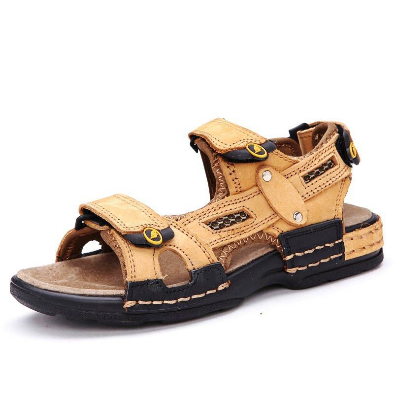 Boys Kids Closed Toe Casual Beach Walking Sports Leather Sandals Comfort Shoes