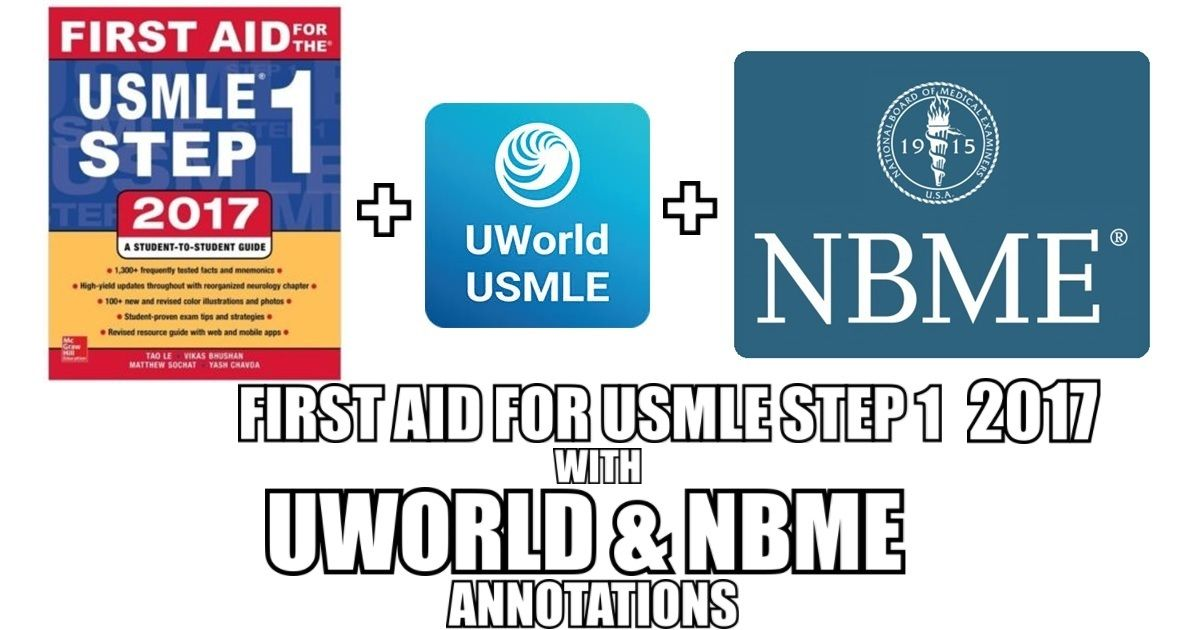 This blog contains First Aid for USMLE Step 1 2017 with