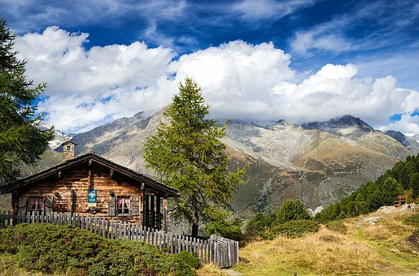 cottage in the swiss alps photograph by matthias hauser