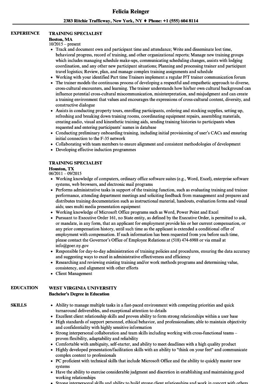 Accounts Payable Specialist Resume New Training Specialist Resume Samples Job Resume Examples Resume Accounts Payable