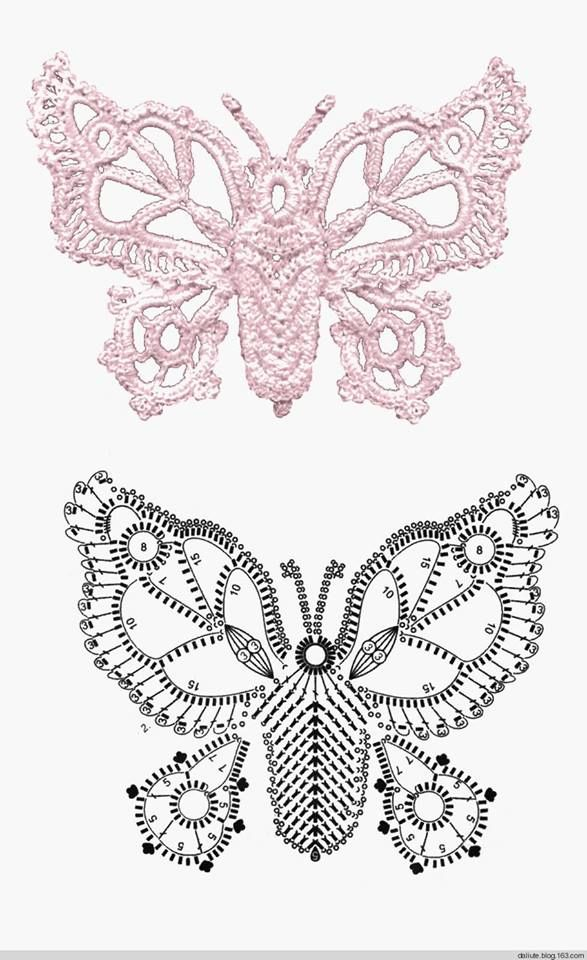 butterfly | yarn | Pinterest | Mariposas, Ganchillo y Tejido