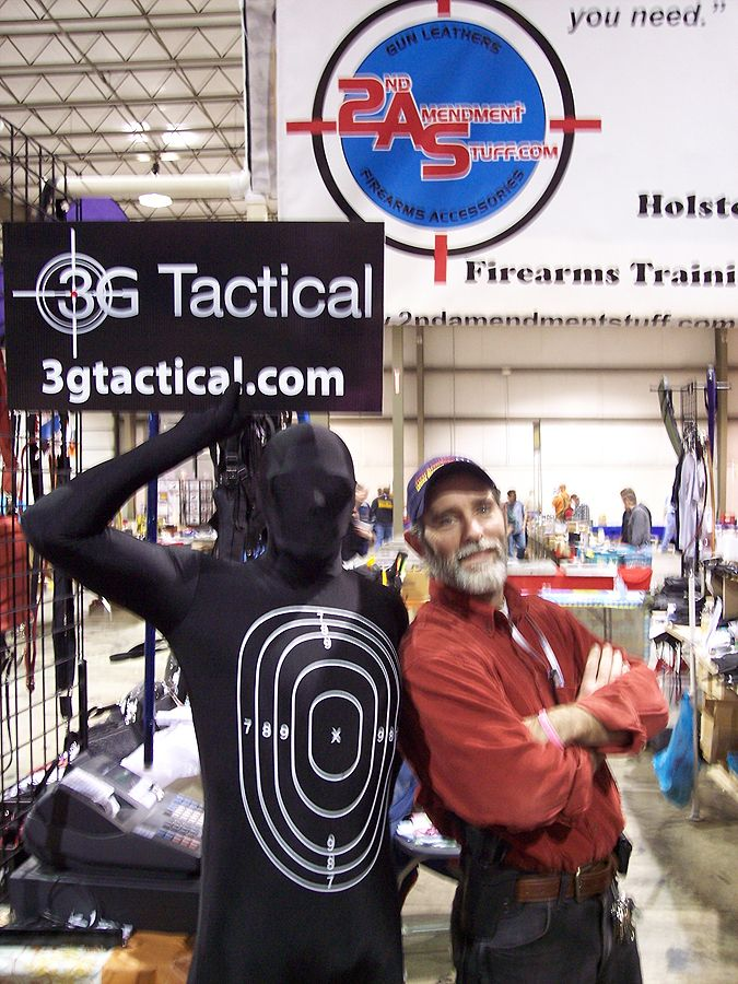 "Bill with the Moving ""Human"" Target —  at Dayton international Airport Exposition Center."