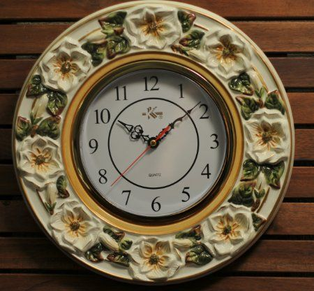 Amazonsmile 3d Magnolia Ceramic Wall Clock Flower