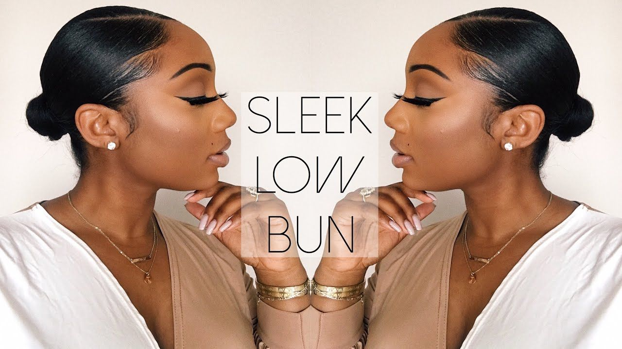 Sleek Low Bun Tutorial Relaxed Hair Tamara Renaye Youtube Relaxed Hair Short Relaxed Hairstyles Relaxed Hair Care