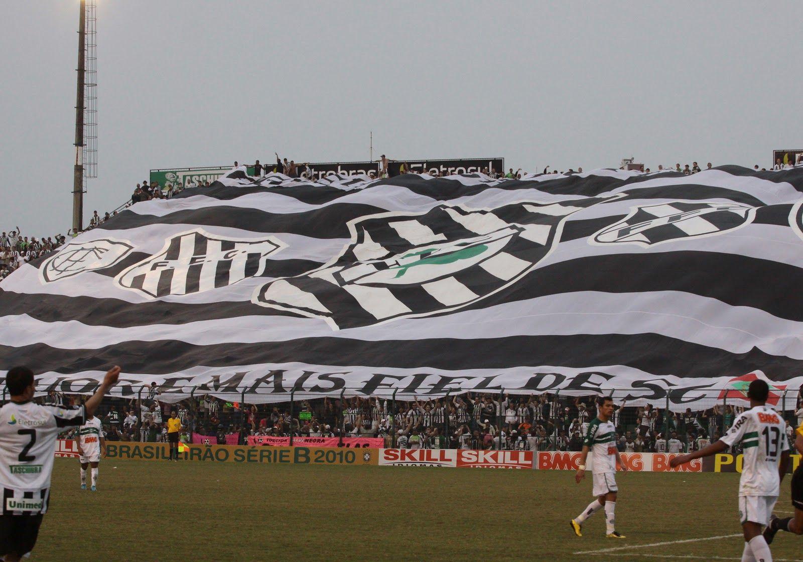 Torcida Do Figueirense Faz A Festa Na Arquibancada Com Bandeirao Gigante Figueirense Futebol Clube Futebol Brasileiro Arquibancadas