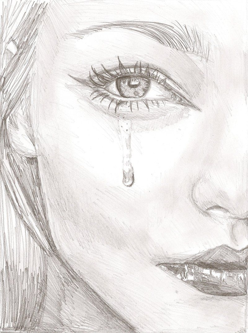 Drawings pencil of tears photos