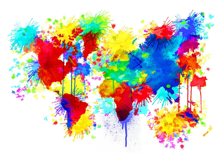 paint splatter 02 | Splatter art, World map art ...