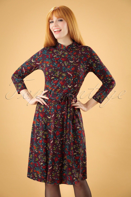 dieses 60s liu shangri la dress in grape purple ist von den