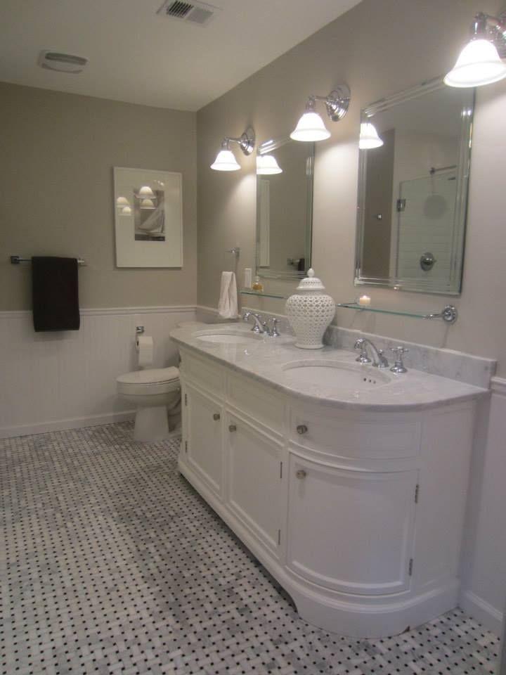 My Master Bath remodel: basketweave carrara marble tile floor ...