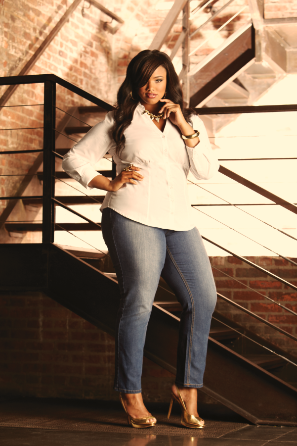 3e2101b8385 Ashley Stewart Denim Campaign 2013. Model Anita Marshall... Plus size