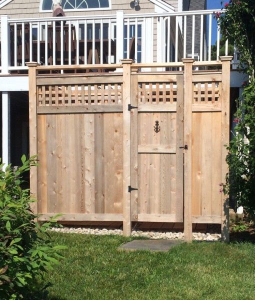 Cedar Outdoor Shower Deluxe Free Standing With Images