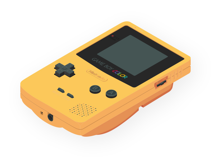 Isometric Gameboy Color By Tiptut On Dribbble In 2020 Gameboy Gaming Products Isometric