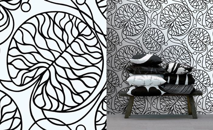 Lovely Bench And Pillows And Marimekko Tapete From