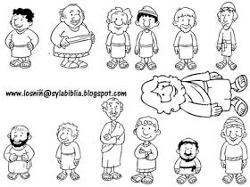 Los niños y la Biblia: Láminas Bíblicas para colorear