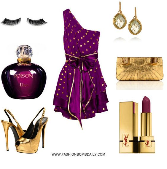 How To Accessorize A Purple Dress