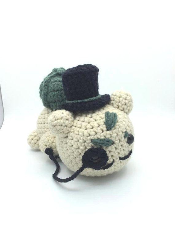 Bulbasaur Pokemon Gentlemon Amigurumi Crochet with Top hat and ...