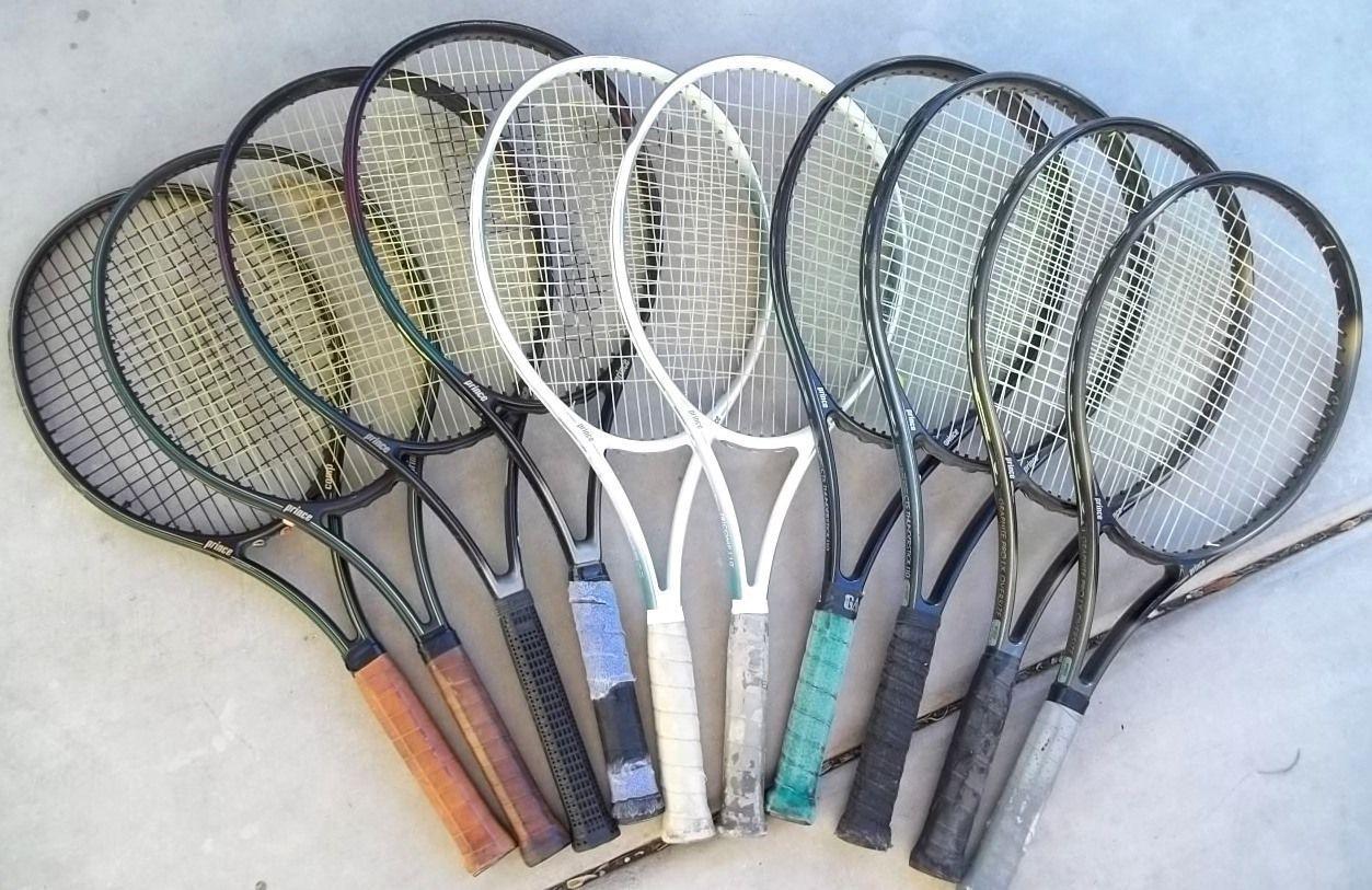 Lot of 10 PRINCE Tennis Racquet Rackets 80s/90s | Prince tennis ...