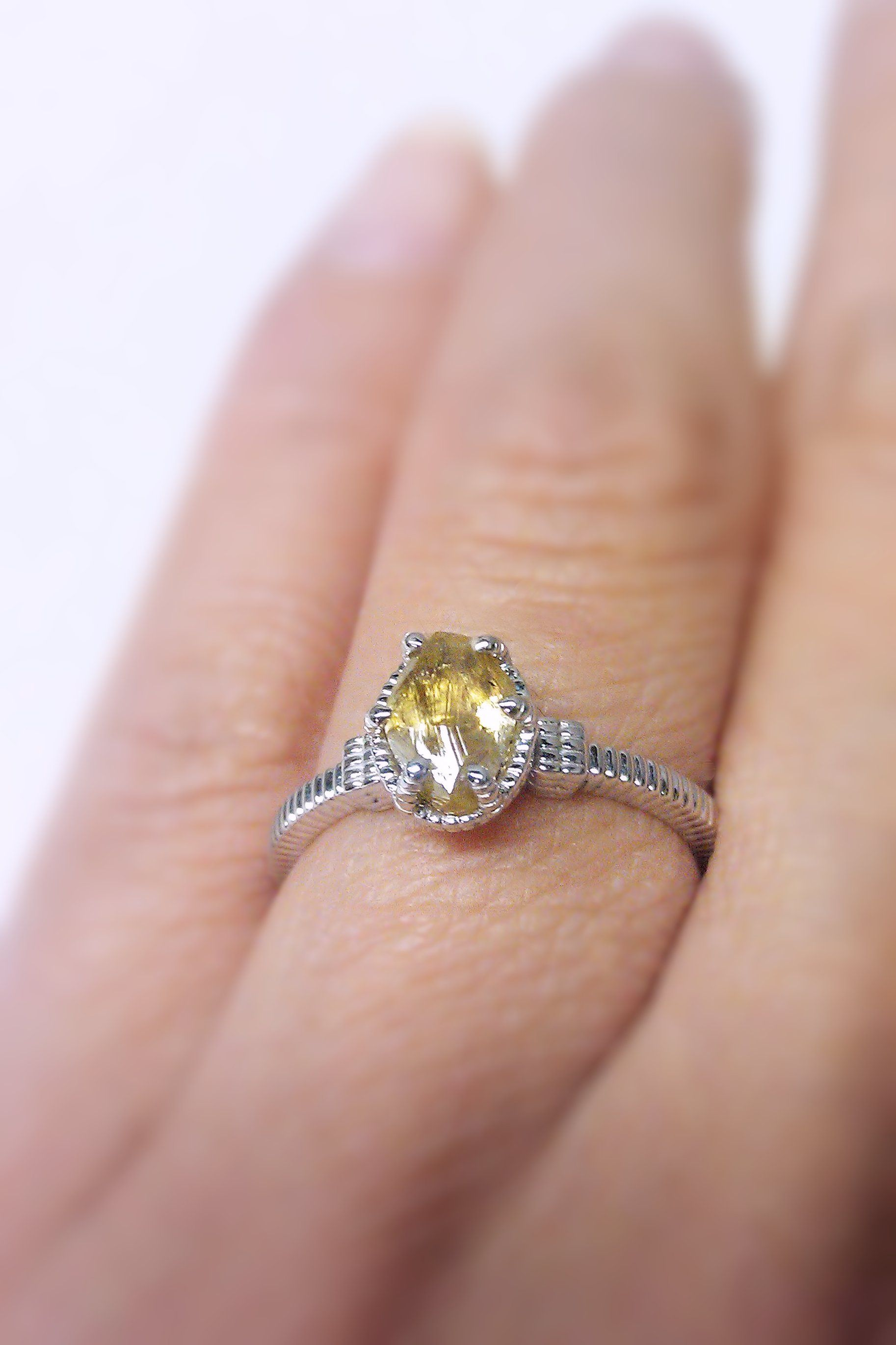 The unique ridges prongs and band add a touch of modern vintage to ...