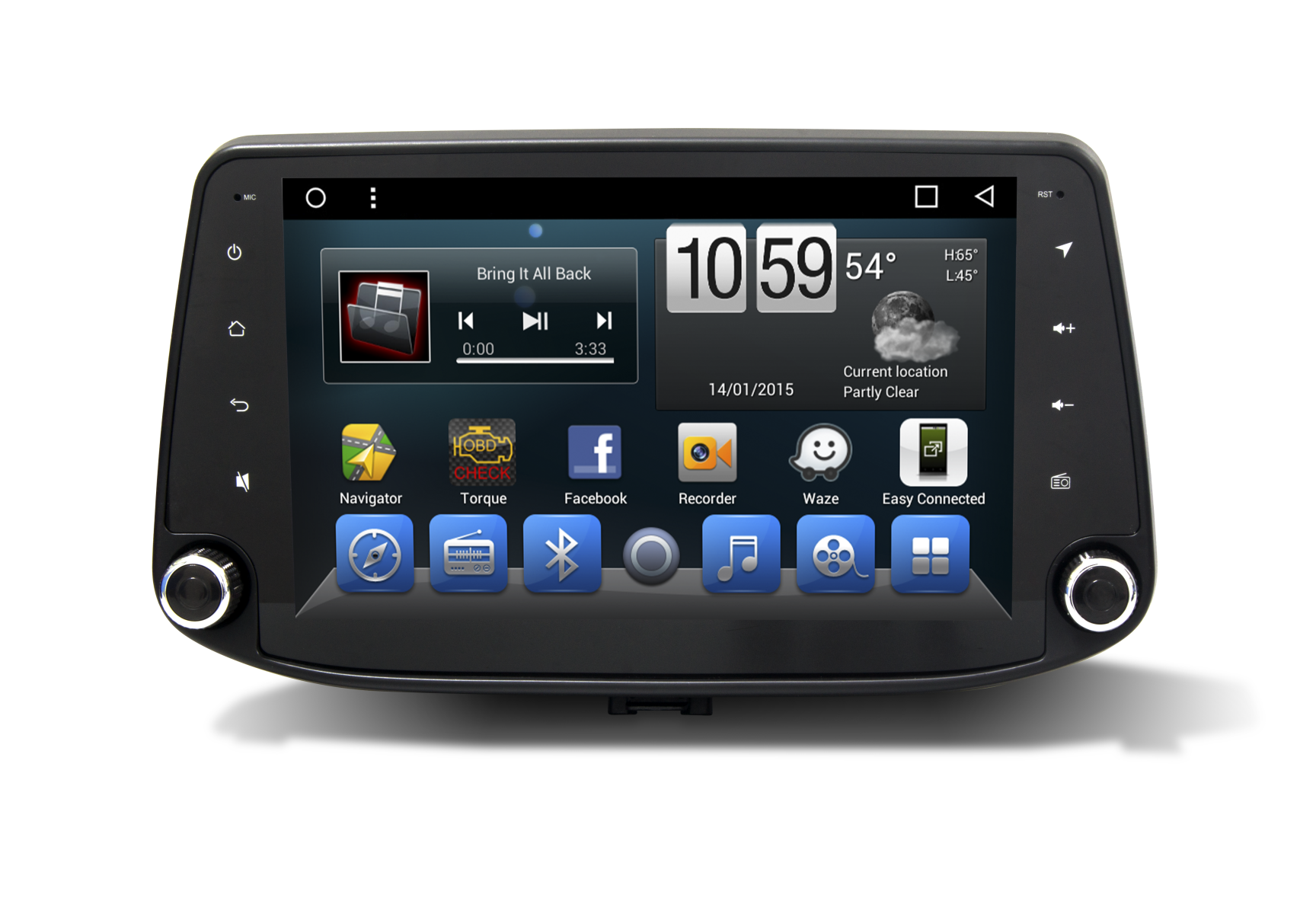 Hyundai I30 2017 Android Car Navigation Head Unit With 9