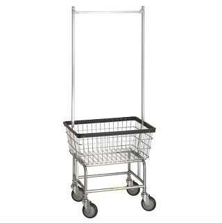 Standard Laundry Cart W Double Pole Rail By R B Wire Products Inc