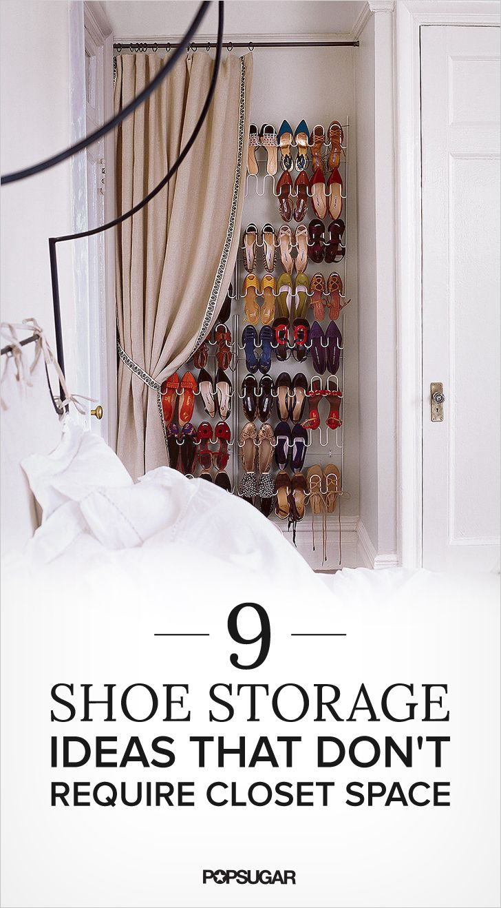 shoe storage ideas that donut require closet space home ideas