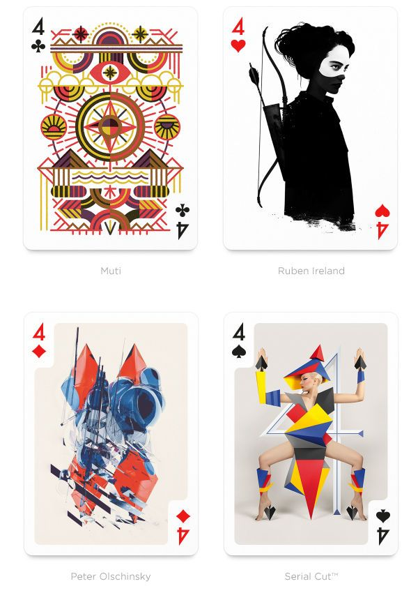 Fantastical Playing Card Collaborations With Images Playing