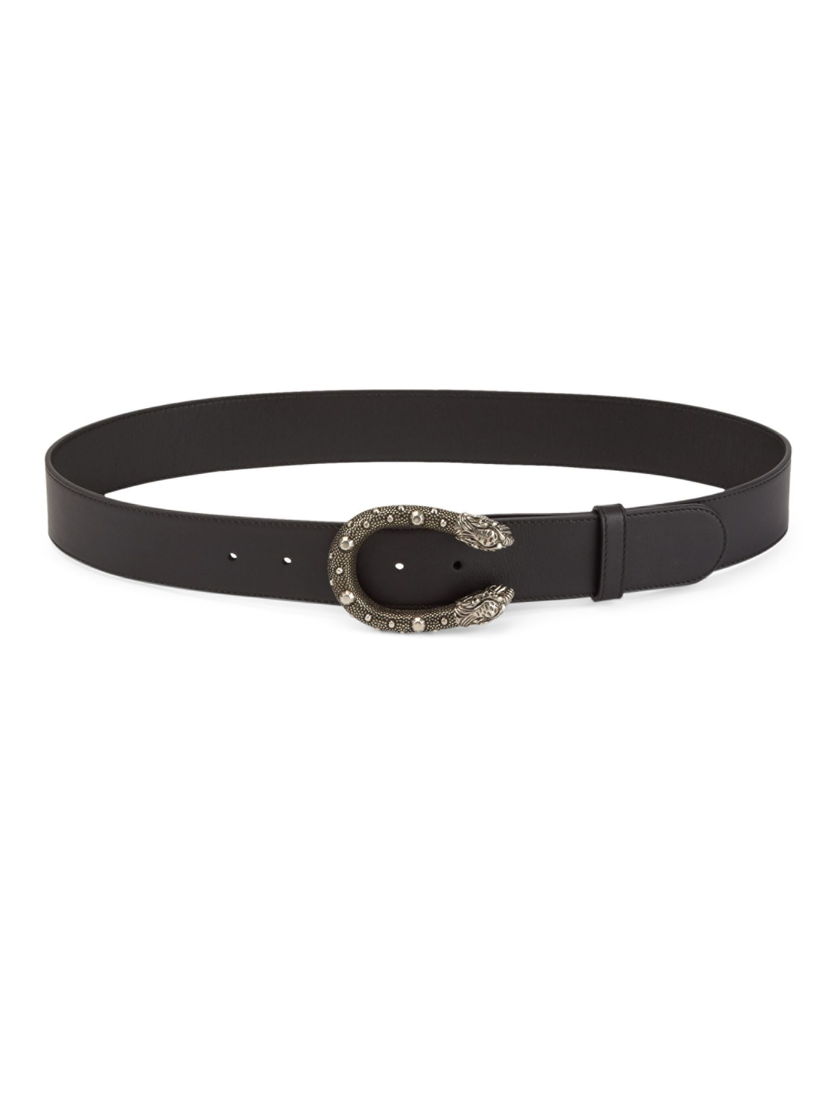 Dionysus leather belt - Black Gucci kBqhPd