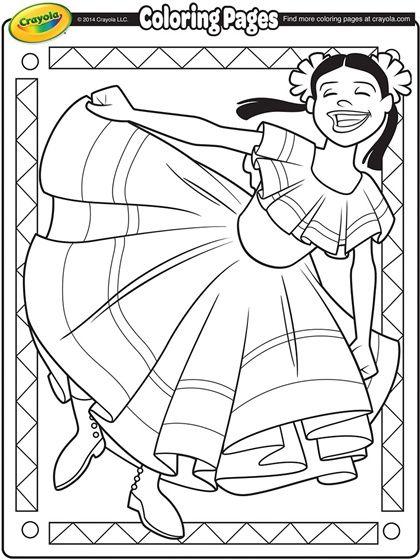 Cinco De Mayo Coloring Page Dance Coloring Pages Crayola Coloring Pages Coloring Pages For Kids