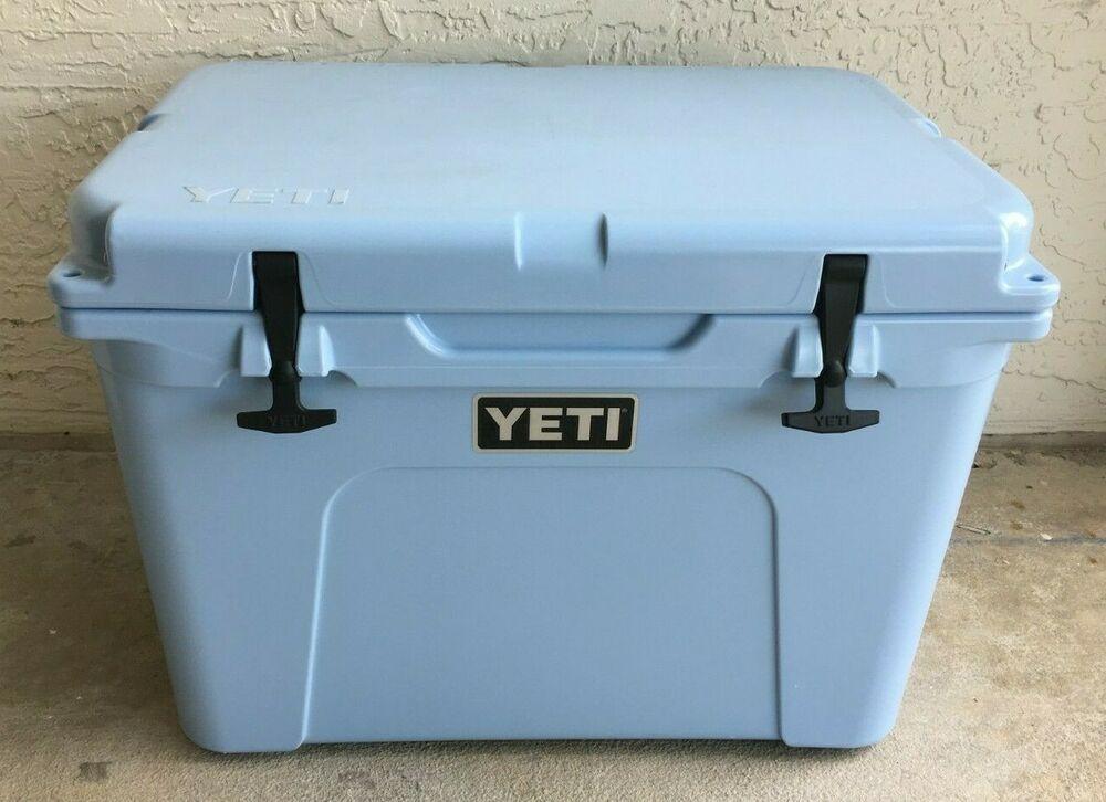 Advertisement Ebay Yeti Tundra 50 Quart Hard Cooler Ice Blue New W O Box Yeti Tundra Cooler Yeti Coolers