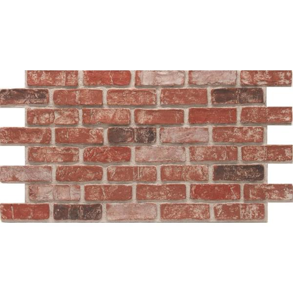 Urestone Old Town 24 In X 46 3 8 In Faux Used Brick Panel 4 Pack Ul2600pk 70 The Home Depot Brick Paneling Faux Brick Walls Stone Veneer Panels