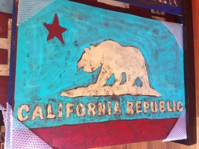 California Bear Flag Painting San Francisco | Bear Flag Museum