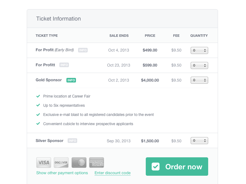 Ticket Information Interactive Design Web Design Web Inspiration