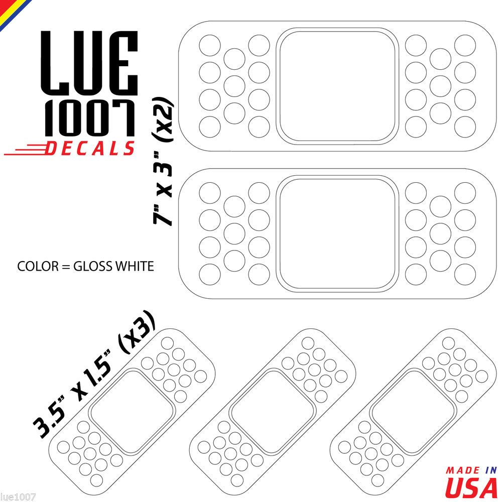 """2x White 5/"""" JDM BandAid Band-Aid Car Bumper Dent Cover Vinyl Stickers Decals"""