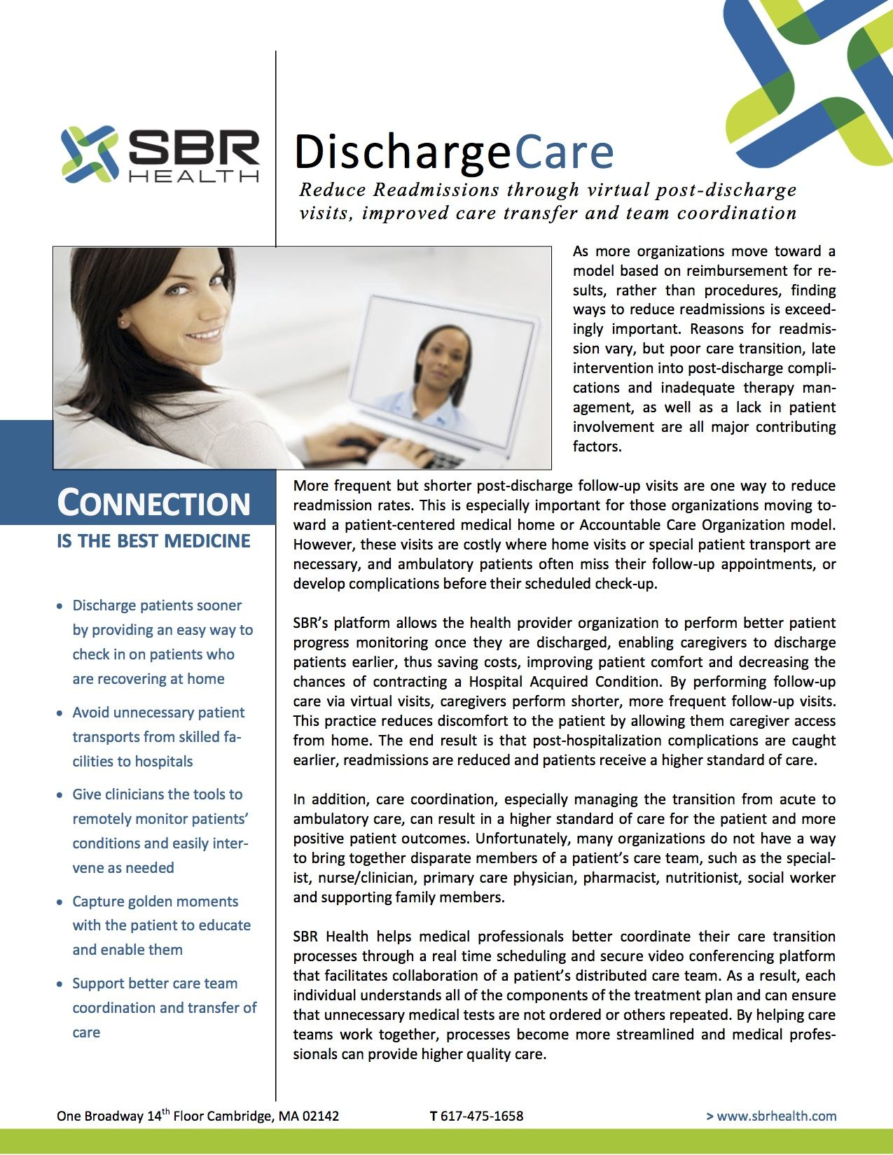 Reduce readmissions through virtual postdischarge visits