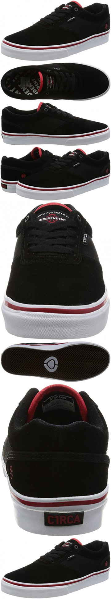 C1RCA Men's Gravette Independent Durable Cushioned Skate Skateboarding Shoe, Indy/Black/White, 9.5 M US