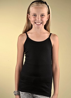 These solid girls camis are made for layering or a sunny day at the beach.  These blank girls tank tops are … | Black spaghetti strap top, Tanktop girl,  Girl outfits