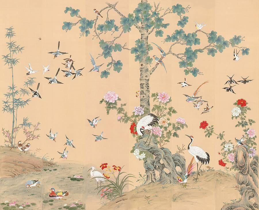 The Chinese Garden Chinoiserie Wallpaper | wallpaper | Pinterest ...