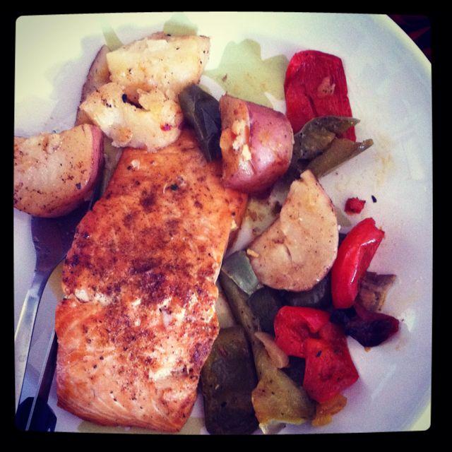Baked salmon! Yum yum :)