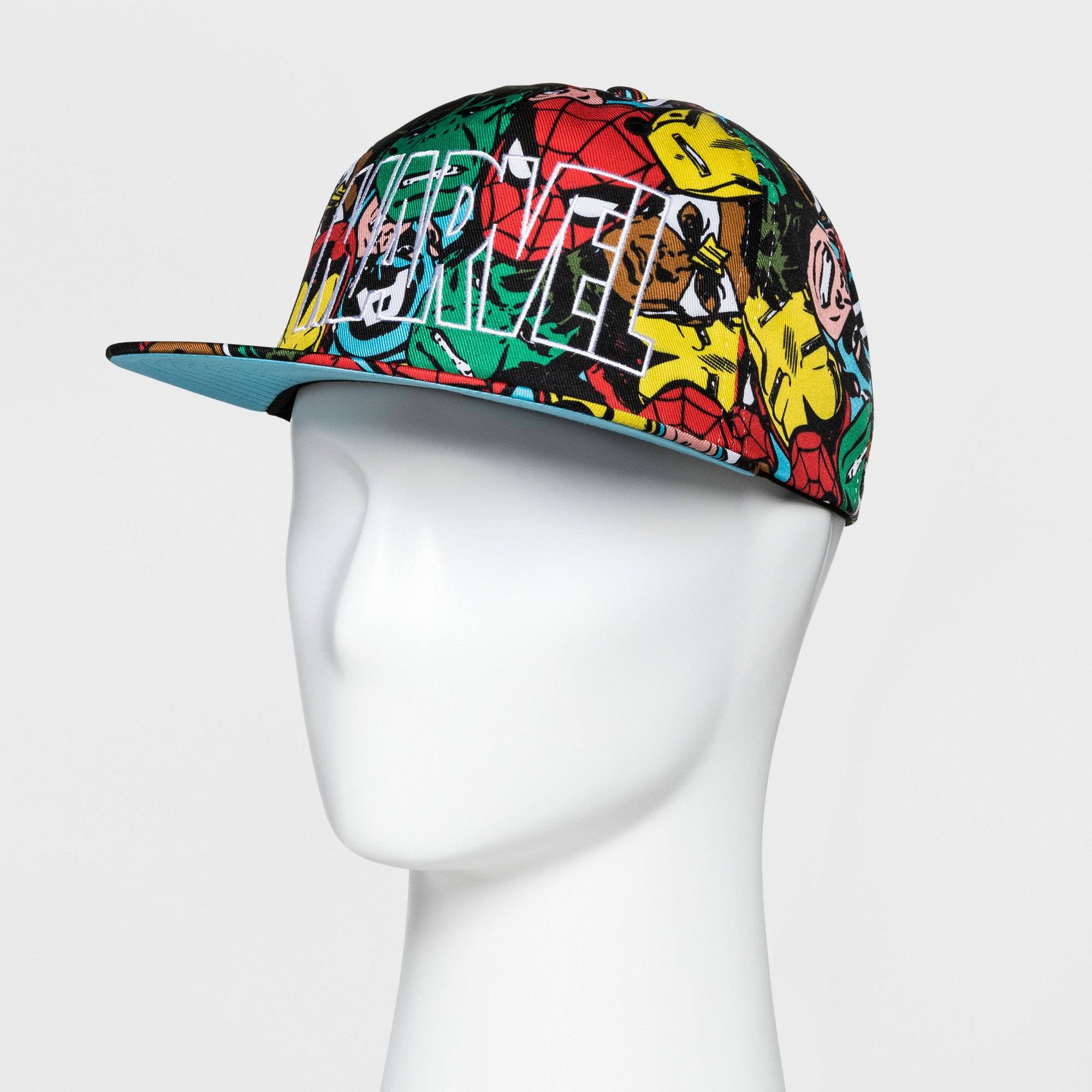 on sale 826e5 cc9f2 Marvel Men s Flat Brim Hat - Multi One Size, Multi-Colored