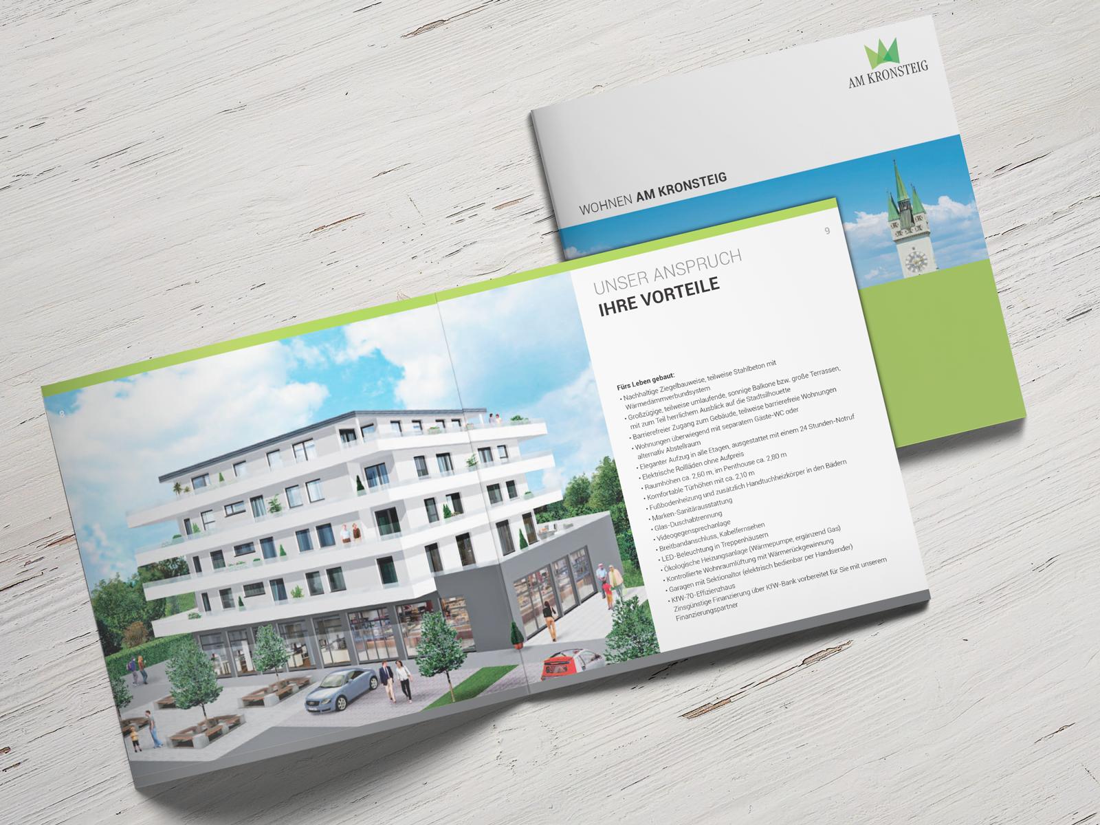 Wohnen am Kronsteig:  Attraktives Wohnen im neuen Bezirk von Alburg. Hier werden für Singles und Familien besondere Wohnqualitäten geschaffen.