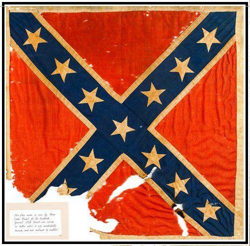 Battle Flag Sewn By Mrs J E B Stuart Civil War Generals Civil War Flags Civil War Confederate
