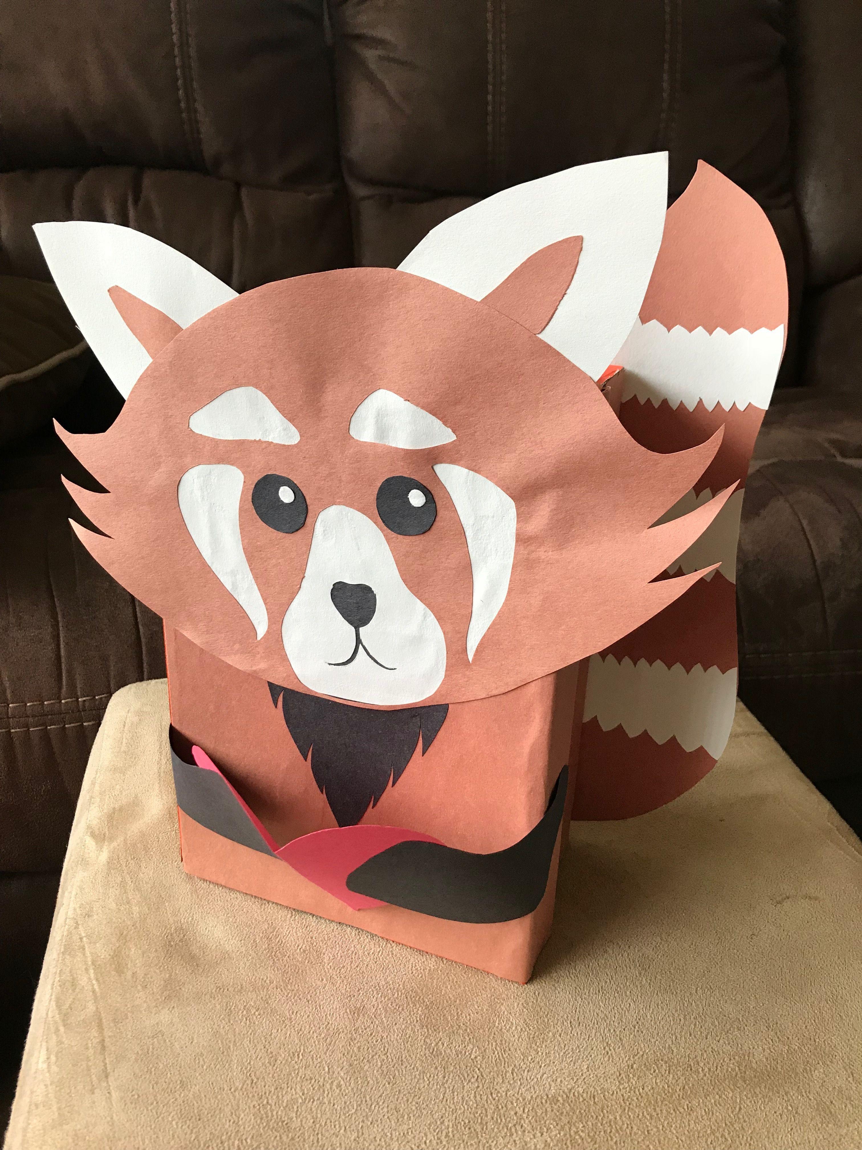 Red Panda Valentines Box Panda Craft Bear Valentines Panda Party