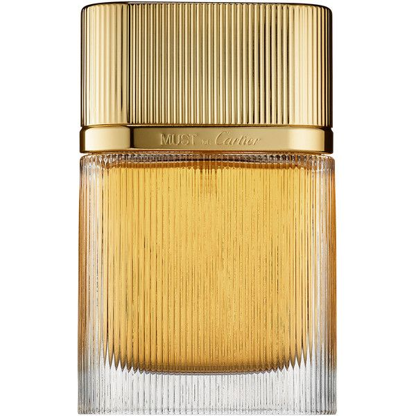 Cartier Must De Cartier Gold (400 SAR) ❤ liked on Polyvore featuring beauty products, fragrance, perfume, beauty, cartier perfume, eau de perfume, perfume fragrances en cartier fragrance
