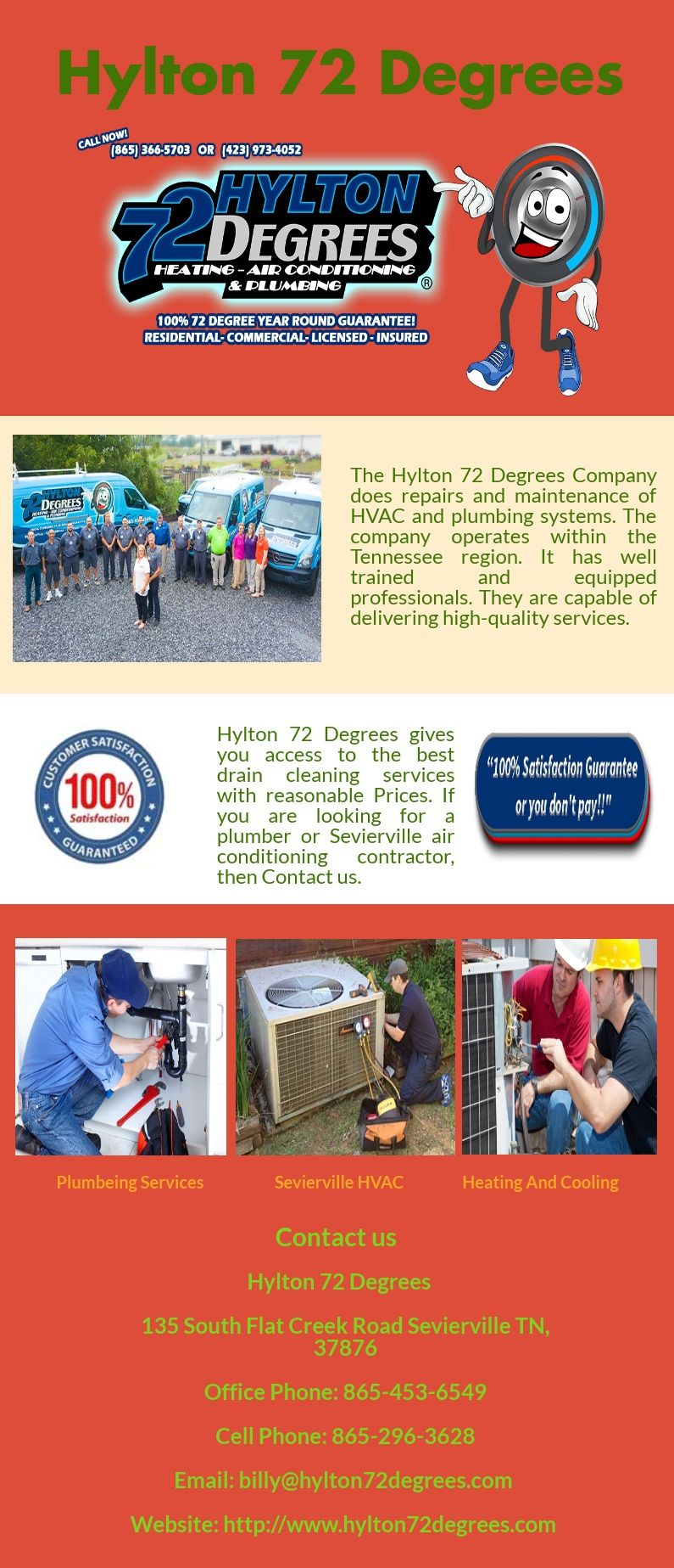 The Hylton 72 Degrees Company does repairs and maintenance